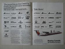 8/1989 PUB BOEING CANADA DE HAVILLAND DASH 8 300 AIRLINES LIAT ALBERTA ANSETT AD