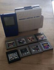 Nintendo Game Boy Pocket Blau Handheld-Spielkonsole Gameboy Spiele Carry Box