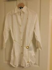 Ralph Lauren Semi Fitted No Pattern Collared Women's Tops & Shirts