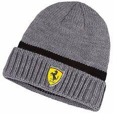 NWT PUMA Ferrari SF Official Medium Gray Heather Knit Beanie Cap Hat Adult OSFA