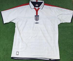 ORIGINAL ENGLAND 2003-05 HOME FOOTBALL SHIRT SIZE 2XL ADULT