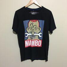Mambo Spanner Bone Nose Richard Allan 90s Style T-Shirt Tee Black Mens Small