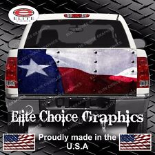 Texas Flag Rivets Truck Tailgate Wrap Vinyl Graphic Decal Sticker