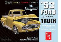 AMT 1953 Ford Pickup Truck 3 in 1 Retro Deluxe Model Kit Enhanced Reissue NEW!