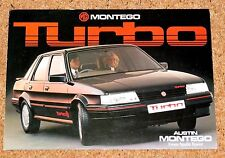 Mg Montego Turbo folleto de ventas c1985 pub no 3710