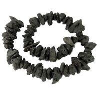 😏 Lava große Splitter Nuggets ~ 12-20 mm Lava-Felsen Perlen Strang für Kette 😉