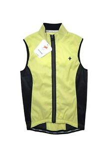 Specialized Women's Deflect Vest XS X-Small Citrus Yellow Cycling Black NWT