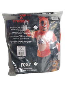 Five Nights at Freddys Foxy Deluxe Costume Childs Large 8-10 cosplay