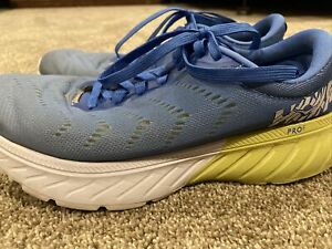HOKA ONE ONE Mach 2 Running Shoes Womens Palace Blue/Lime Sherbet 7.5 No Insoles