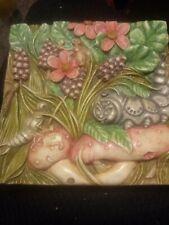 Harmony Kingdom Picturesque Cata's Pillow Byron'S Garden Tile Plaque Magnet