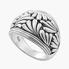 LAGOS Gorgeous Sterling Silver Flora Ring Size 7