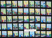 "Pickles Fabric - Funny Comic Blocks C8899 Black - Timeless Treasures 23"" Panel"