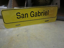 SAN GABRIEL VALLEY CA LICENSE PLATE TOPPER  MADE OUT OF METAL