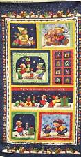 Marcus Teresa Kogut Tis Giving Season Panel Christmas Bears Dog Cotton Fabric