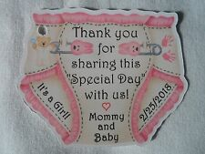 UNIQUE PERSONALIZED DIAPER THEME TWINS BABY SHOWER PARTY FAVOR GIFT TAGS
