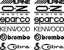 12 Mate Negro Puerta de la pila de patrocinador adhesivos con el logotipo, gráficos, Calcomanías
