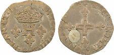 Henri III, double sol parisis, 2e type, 15[84?] Limoges, argent, RARE - 96