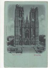 Eglise St Gudule Bruxelles Belgium Vintage Postcard 226a
