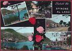 BERGAMO SPINONE AL LAGO 02 SALUTI da... VEDUTINE Cartolina FOTOGR. viagg. 1959