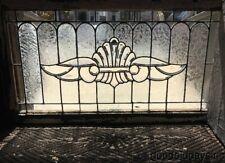 "1 Antique Victorian Beveled & Leaded Glass Transom Window 44"" x 24"" Circa 1900"
