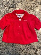Girls Disney Minnie Mouse Red Pea Coat 2T Small Buttons Embroidery Nwot
