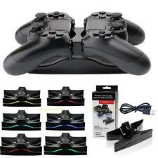 Chargeur USB LED Dock Station de charge rapide pr Manettes Controleurs Sony PS4