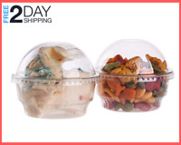 30 PCS 5 oz Clear Plastic Cup For Ice Cream Dessert Cup Snack, Dome lid no Hole
