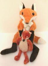 Ikea Vandring Rav Fox Parent/Baby Mixed 2-Plush Set Floppy Stuffed Animals Lot