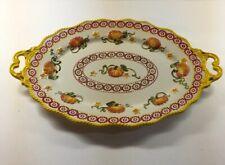"Temp-tations Stoneware Old World Pumpkin Fall Harvest Large Serving Platter 18"""