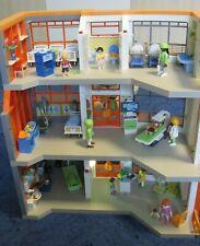 Playmobil Krankenhaus 70190 mit vielen Extras, Etage, Hubschrauber, Landeplatz