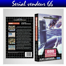 "BOX, CASE "" 688  ATTACK SUB "", Mega Drive. SEGA. BOX + COVER PRINTED. NO GAME."