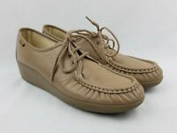 SAS Womens Oxford Shoe Size 10 S AAA Mocha Beige Tan Lace Up Shoes Tripad Loafer