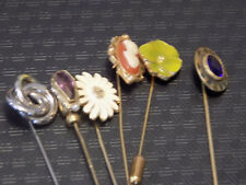 Vintage Art Deco, various styles and ages, Lapel Stick Pins - set of 6 16