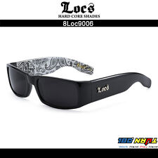 2081c74f8b Locs Men Dark Lens Large Gangster Black OG Sunglasses Oversize Biker 91055