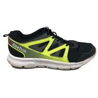 Reebok Run Supreme 2.0 Running Shoes Mens Size 7 Black Green Sneakers AR3477