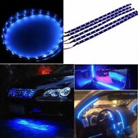 "6pcs 12""/30CM Blue Car Motor Truck Flexible LED Strip Light Bar Waterproof 12V"