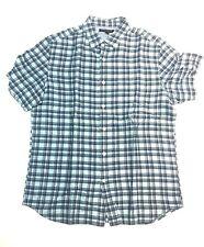Banana Republic Mens Size Medium Blue Shirt Short Sleeve Linen Blend Sample