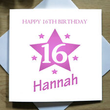Personalised Handmade Women Birthday Card - 16th, 18th, 21st, 40th, 50th Any Age
