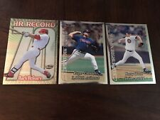 Mark McGwire Topps Super Chrome #34 HR Record + 2 Others 4x6 inch baseball cards