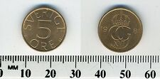 Sweden 1981 - 5 Ore Bronze Coin - King Carl XVI Gustaf
