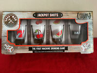 The Shed Man Fruit Machine Drinking Game Jackpot Shots - 4 Shot Glasses and Dice