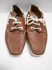 STEVE MADDEN - BOAT SHOES-  M.GERRY LOAFER SLIP-ONS - MEN'S SIZE 10.5 BROWN