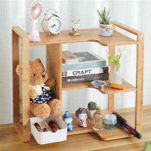 Bookcase Desktop Shelf Desk Bookshelf File Storage Organizer Rack Table Office
