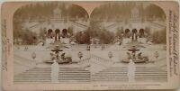Linderhof Giardino Baviera Germania Foto Stereo Vintage Albumina 1898