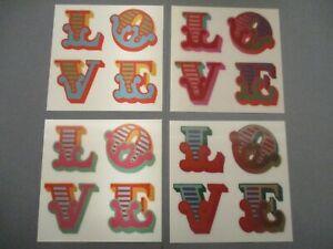 Ben Eine Love Hand Signed 3d Lenticular Prints Set of 4 Colourways Valentines