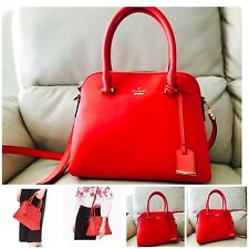 New Kate Spade Cameron Street Maise Bag Leather Prickly Pear Red  NWT $298