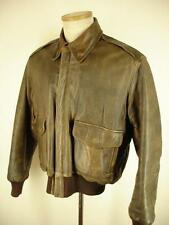 VTG Mens S 38 Brown L.L. BEAN FLYING TIGERS Leather A-2 Flight Jacket Thinsulate