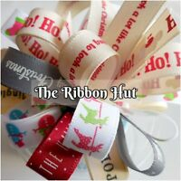 15MM MUSICAL AND NOVELTY PRINTED CHRISTMAS RIBBONS 10 X 1 MTR BY BERISFORDS
