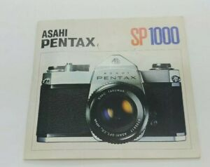 Original Instruction Manual for Pentax manual camera SP1000