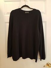 LANDS END BLACK SOFT CASHMERE CARDIGAN SWEATER - WOMENS XL 18-20